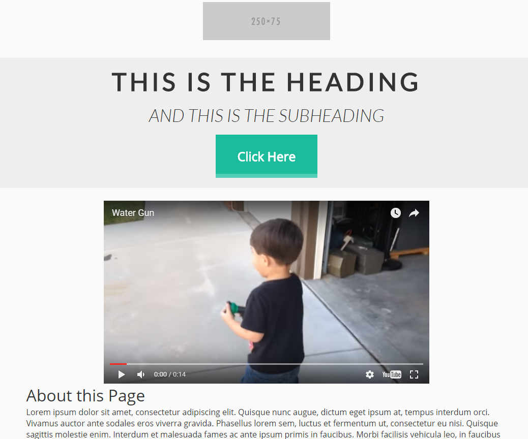 New Video Landing Page Template AllClients Blog - Video landing page templates