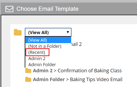 Recent Folder Added To The Template Picker Pop Up Allclients Blog